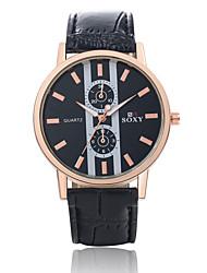Мужской Наручные часы Кварцевый Кожа Группа Черный / Коричневый марка