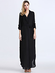 Women's Fashion Casual / Work / Holiday / Party Chiffon Maxi Dress
