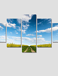 5 Panel Modern Landscape Painting Canvas Art Cuadros Decoracion Wall Picture For Living Room Unframed For Home