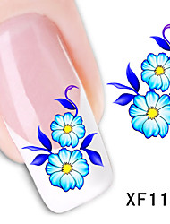 50sheets  Mixed Flower 50Styles Water Transfer Sticker Nail Art Beautiful DIY XF1101-1150