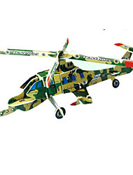 Jigsaw Puzzles 3D Puzzles Building Blocks DIY Toys Aircraft Paper Red / Green / Blue / Yellow Model & Building Toy