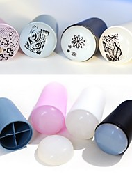 1Set New Style Roundness Hand Shank Soft User-Friendly Silica Nail Art Stamper Scraper (Colour Random)