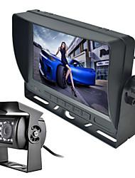 renepai® 7 pulgadas monitor inalámbrico 170 ° hd retrovisor del coche de la cámara de bus + bus de alta definición de gran angular de la