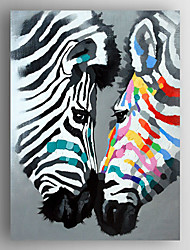 Oil Painting Lovers of Two Zebras by Knife Hand Painted Canvas with Stretched Framed Ready to Hang