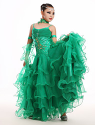 High-quality Spandex and Tulle with Appliques and Rhinestones Kids' Dancewear Dresses (More Colors)