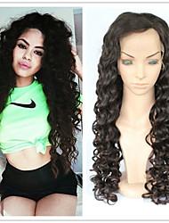 "10""-26"" Glueless Full Lace Human Hair Wigs Curly Lace Front Wigs Unprocessed Virgin Brazilian Wigs For Black Women"