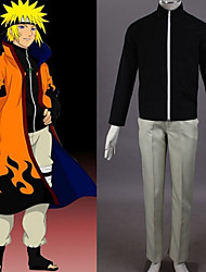 Inspired by Naruto Naruto Uzumaki Anime Cosplay Costumes Cosplay Suits Patchwork Black Coat / Pants
