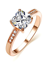 Statement Rings Crystal Simulated Diamond Alloy Fashion Silver Golden Jewelry Wedding Party 1pc