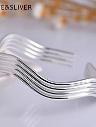 S990 Sterling Silver Japanese Tide Waves Bracelets Breadwinners Female Fashion Bracelets  JHYSH012