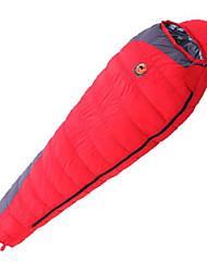 Спальный мешок Кокон Односпальный комплект (Ш 150 x Д 200 см) -15℃ Утиный пух 1800g 210X80 Путешествия Сохраняет тепло CAMEL