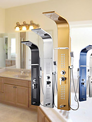 10 Inch In Wall Bathroom Rainshower Set Shower Panel Rainfall Massage System Faucet with Jets Hand Shower