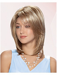 Middle Length Straight Hair European Weave Light Brown Hair Wig