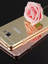 New Plating Mirror Back with Metal Frame Phone Case for Samsung Galaxy A3 10(2016)/A5 10/A7 10/A9/A5