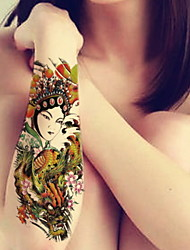 Flowers Artistes Waterproof Flower Arm Temporary Tattoos Stickers Non Toxic Glitter