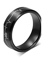 Ring Wedding / Party / Daily / Casual / Sports Jewelry Tungsten Steel Statement Rings 1pc,6 / 7 / 8 / 9 / 10 / 11 / 12 Black