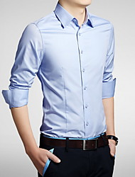 Men's Fashion Casual Single Breasted Long Sleeved Shirt Plus Sizes