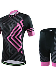 CHEJI® Cycling Jersey with Shorts Women's / Men's / Unisex Short Sleeve BikeBreathable / Quick Dry / Front Zipper / Wearable /