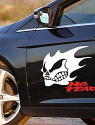 reflexivo Ghost Rider morfo adesivos de carro (2pc).
