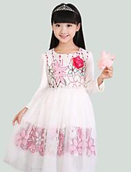 Girl's Multi-color Dress,Floral / Lace / Dresswear Cotton Fall
