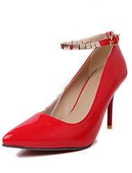 Chaussures Femme - Bureau & Travail / Décontracté - Noir / Rouge / Amande - Talon Aiguille - Talons / Confort / Bout Pointu - Talons -