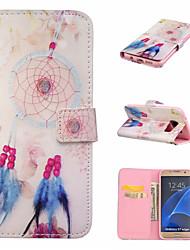 Para Samsung Galaxy S7 Edge Carteira / Porta-Cartão / Com Suporte / Flip Capinha Corpo Inteiro Capinha Filtro dos Sonhos Couro PU Samsung