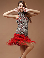Vestidos ( Negro / Azul / Rojo , Poliéster , Danza Latina ) - Danza Latina - para Mujer