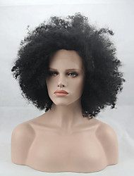 Fashion Synthetic Wigs Lace Front Wigs Afro Kinky Curly  Black Heat Resistant Hair Wigs Women