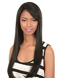 Long Silky Straight Human Virgin Remy Hand Tied-Top Capless Hair Wigs for Woman