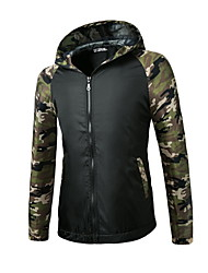 Men's Fashion Leisure Long Sleeve Hooded Jacket