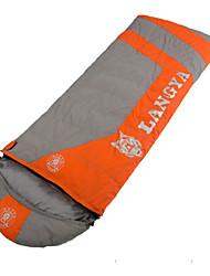 Saco de dormir Retangular Solteiro (L150 cm x C200 cm) -5℃ Penas de Pato 1500g 215X80 Viajar Mantenha Quente LANGYA