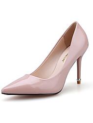 Women's Shoes Stiletto Heel Heels / Pointed Toe / Closed Toe Heels Dress / Casual Black / Pink / Red / White / Silver