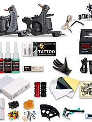kit de tatouage 2 complet de la machine 4 encres de tatouage alimentation