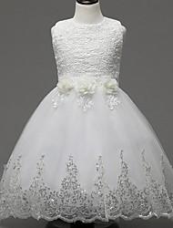 Girl's Floral Dress,Polyester Summer / Spring / Fall White