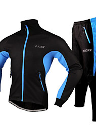 FJQXZ Cycling Jacket with Pants Men's Bike Tracksuit Jacket Clothing Sets/SuitsWaterproof Dust Proof Wearable Reflective Strips Reduces