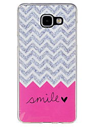 For Samsung Galaxy Case Pattern Case Back Cover Case Lines / Waves TPU Samsung A7(2016) / A5(2016) / A3(2016) / A9