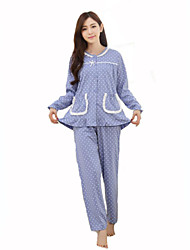 Damen Pyjama - Baumwolle Medium