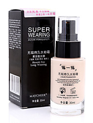 1 Foundation Wet / Matte Liquid Coverage / Long Lasting / Concealer Face Multi-color Zhejiang MJ