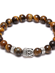Buddha Beads Bracelets Source Volcano Retro Buddha Head Tiger Bracelet Christmas Gifts