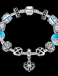 Women Gift Strand Beads Bracelets Beads Glass Beads heart Charm Bracelets & Bangles 925 Silver European beads PH033