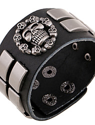 Punk Amarican Indian Mystierious Skull Totem Wide Leather Belt Bracelets 1pc