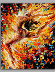 Dancing Nude Woman Knife Oil painting Framed Nice Girl Nude