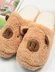 Men's Winter Slippers Fleece Casual Brown / Pink