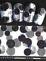 5pcs 20*4cm 2016 New Japanese White  Series Nail Art Interesting Round Design  Foils DIY Nail Sticker STZ Jw12