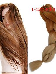 1-12packs # 613 / marrone intrecciare i capelli a colori ad alta temperatura intrecciare i capelli 100g / pcs estensioni dei capelli