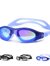 Swimming Goggles Unisex Waterproof Silica Gel PC White / Black / Blue Green / Black / Blue / Gold / Silver