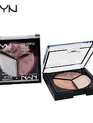 3 Oogschaduwpalet Mat / Glinstering Oogschaduw palet Poeder Normaal Dagelijkse make-up / Feeërieke make-up