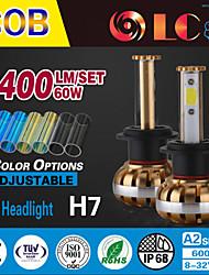 liancheng® 60w 6400lm 9 ~ 32v mazorca de alto brillo llevó h7-kit de faros de coche, fuera de la carretera, UTV, ATV