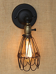 American Industrial-Style Fence Rusty Iron Mesh Decorative Wall Sconce