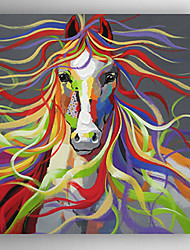 Oil Painting Abstract Horse by Knife Hand Painted Canvas with Stretched Framed Ready to Hang