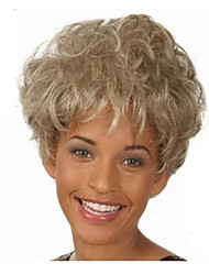 Pixie Cut Hairstyle Synthetic Wigs Short Hair Straight Blonde Wigs with Bangs for Women Wig